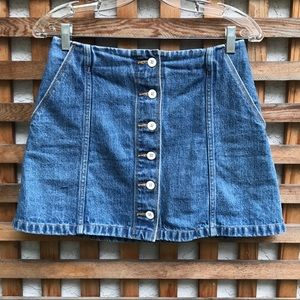 Wilfred Free Ahrens Mini Denim Skirt S